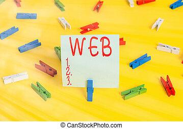 vacío, apoyo, recordatorio, escritura, web., amarillo, ...