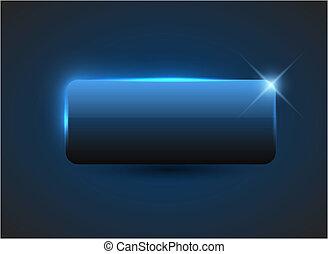 vacío, azul, botón
