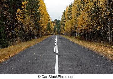 vacío, carretera