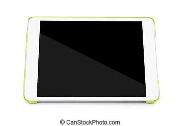 vacío, computadora personal tableta, blanco