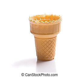 vacío, cono, helado