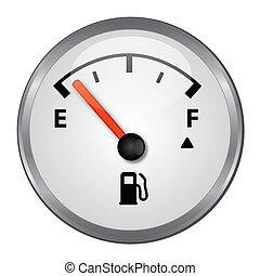 vacío, depósito de gasolina, ilustración