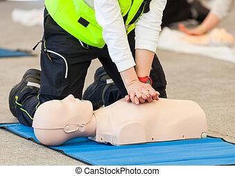 vacío, instrucción resuscitación cardiopulmonar