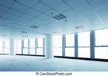 vacío, moderno, interior de la oficina