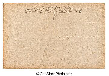vacío, postcard., vendimia, estilo retro, papel, plano de fondo