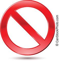 vacío, prohibición, señal