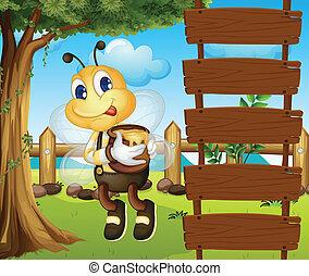 vacío, signboards, abeja