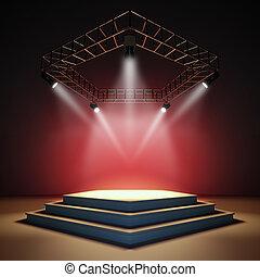 vacío, stage.