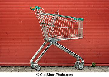vacío, supermercado, carrito
