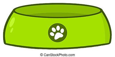 vacío, tazón de fuente del perro