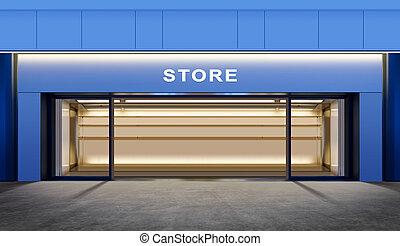vacío, tienda