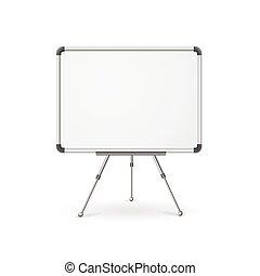 vacío, vector, whiteboard