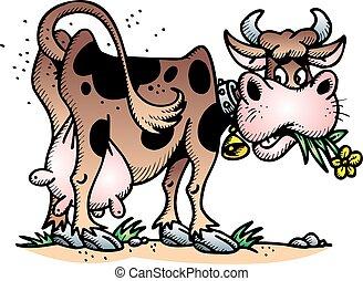 vaca, feliz