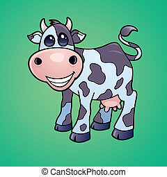 vaca lechera, feliz