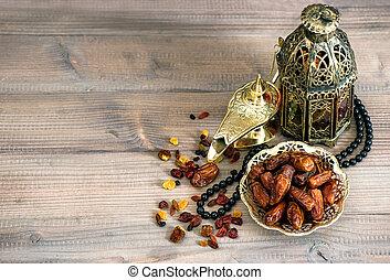 vacaciones, decoración, islámico, lámparas, árabe, rosary., ...