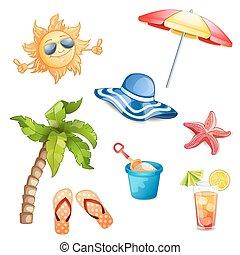 vacaciones del verano, illustration.