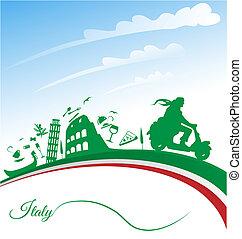 vacaciones, italiano, plano de fondo