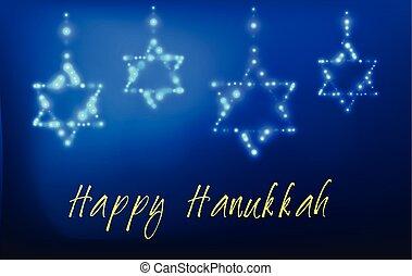 vacaciones judías, tarjeta, hanukkah