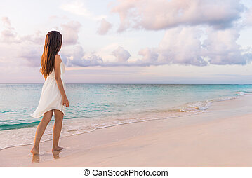 vacaciones, lujo, getaway., pacífico, serenidad, playa ...