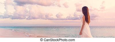 vacaciones, lujo, pacífico, serenidad, playa puesta sol, el ...