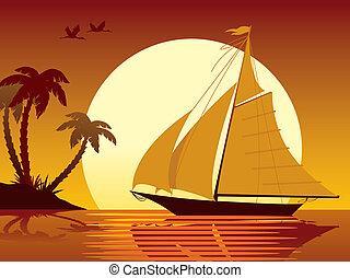 vacaciones, navegación