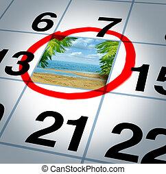 vacaciones, plan