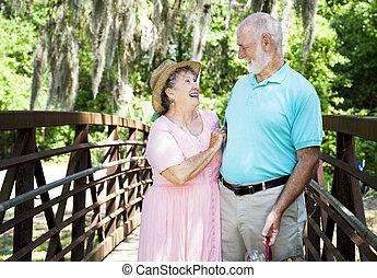vacaciones, seniors, -, risa
