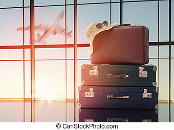 vacaciones viajan, concepto