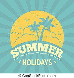 vacances été, affiche