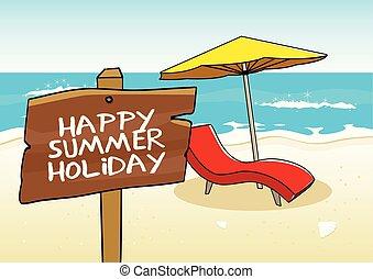 vacances été, heureux