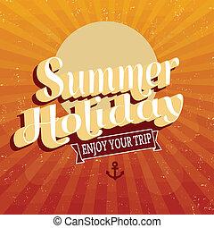 vacances été, vendange, affiche