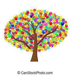 vacances, arbre