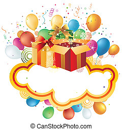 vacances, cadeau, célébration