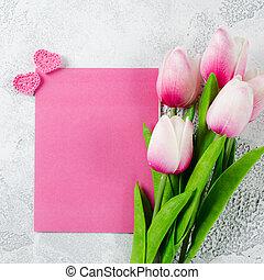 vacances, carte postale, pour, jour valentine, ou, birthday.