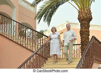 vacances, couples aînés