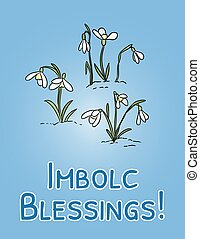 vacances, début, printemps, vecteur, symbole., bénédictions...
