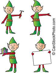 vacances, elfes
