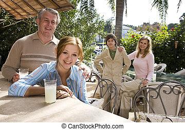 vacances, famille