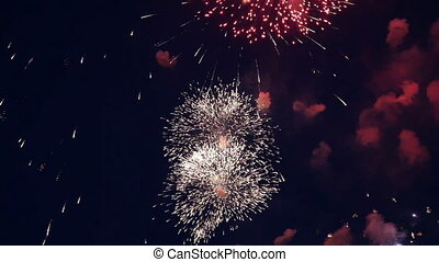 vacances, feux artifice, son