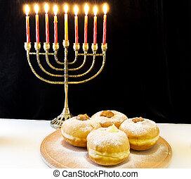 vacances, hanukkah, juif