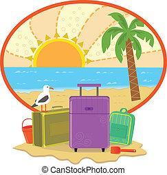 vacances, icône