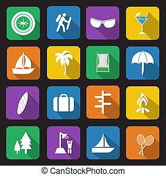 vacances, icônes