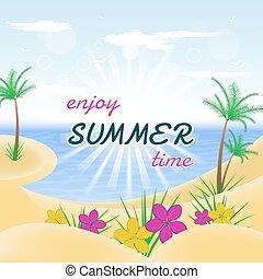 vacances, jouir de, été