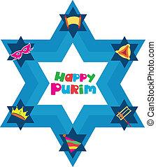 vacances juives, objets, étoile, david