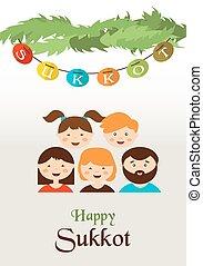 vacances juives, sukkot, famille, sukkah