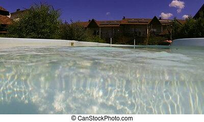 vacances, natation, recours, piscine, hôtel