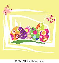 vacances, paques, printemps, papier peint