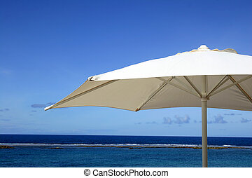 vacances, parapluie