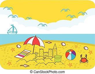 vacances, plage