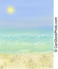 vacances plage, fond